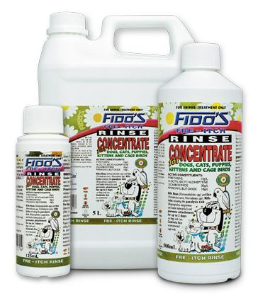Fido S Fre Itch Rinse Concentrate For Dogs And Cats