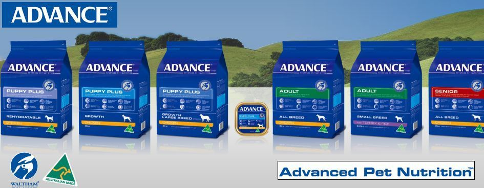 Advance Dog Food Banner