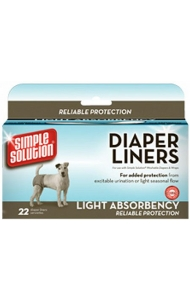 Simple Solution Diaper Liners Light 22 Pack