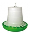 Poultry Feeder Green & White