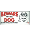 Dog Sign - Beware Of The Dog Bulldog - Small