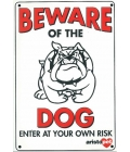Dog Sign - Beware Of The Dog Bulldog - Medium