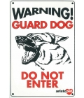 Dog Sign - Warning Guard Dog Alsation - Medium