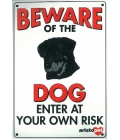 Dog Sign - Beware Of The Dog Rotty - Medium