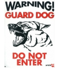 Dog Sign - Warning Guard Dog Alsation - Large