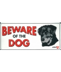 Dog Sign - Beware Of The Dog Rotty - Small