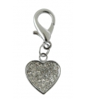 Pet Bling - Solid Heart With White Diamantes