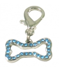 Pet Bling - Hollow Bone With Blue Diamantes