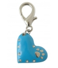 Pet Bling - Solid Blue Heart With Diamantes and Paw