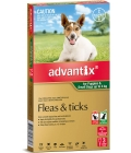 Advantix For Puppies & Small Dogs up to 4kg Green 3pack
