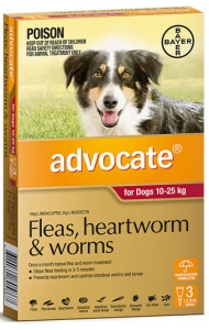 Advocate for Dogs 10-25kg 3 pack