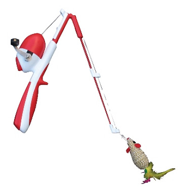 Catfisher rod reel cat toy for Fisher price fishing pole