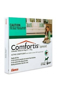 Comfortis For Dogs 6Pack (Green) - (9.1 - 18kg)